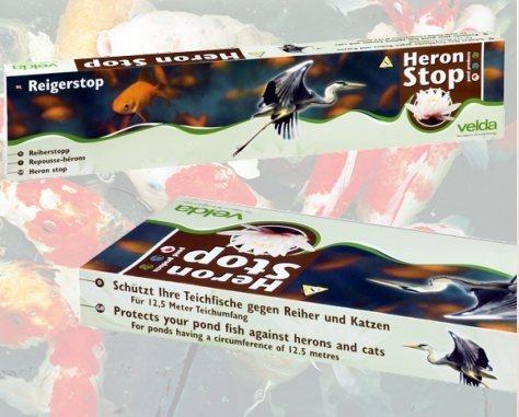 Heron stop schutz vor fischfra reiherschutz gegen Teichfische deutschland