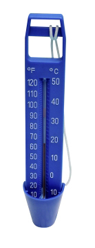 Poolthermometer blau - Stabthermometer