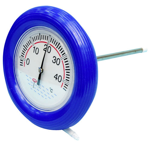 Poolthermometer blau - Rundthermometer d 18cm