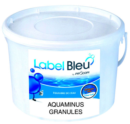 Aquaminus Pulver 8 Kg pH Senkung im Pool Label Bleu